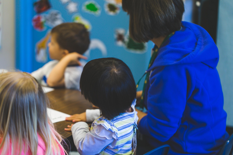 Volunteer Works with Children